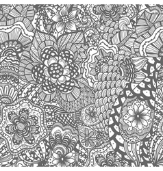Seamless hand drawn seamless flower pattern vector