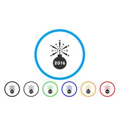 2016 fireworks detonator rounded icon vector