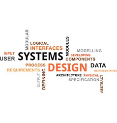 Word cloud systems design vector