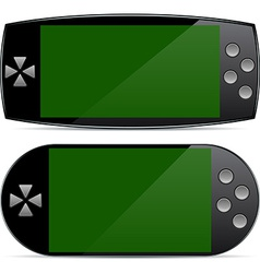 Portable gamepad concepts vector