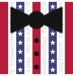 Stylized suit with red white and blue stripes vector