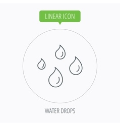 Water drops icon rain or washing sign vector