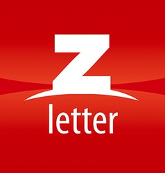 Abstract logo letter z on a red background vector