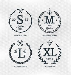 Size emblems templates vector