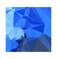 Brandeis blue abstract low polygon background vector