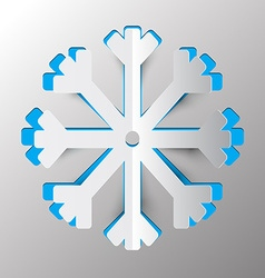 Snowflake - winter symbol paper cut vector