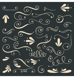 Set of hand drawn swirls vector