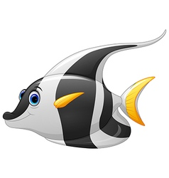 Masked banner fish cartoon vector