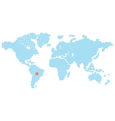 Map of the world consisting of blue e-mail symbol vector