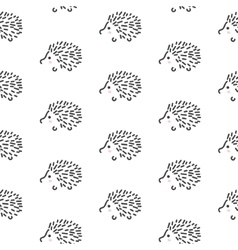 Hedgehog stylized line fun seamless pattern for vector