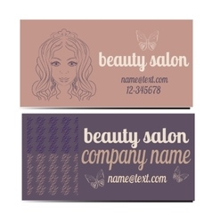 Beauty salon banners visit cards with abstract vector