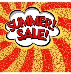 Color summer sale banner pop art comic book vector