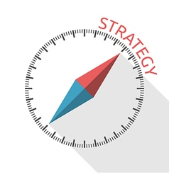 Compass showing strategy direction vector