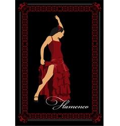 al 0304 flamenco poster vector image vector image