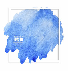 Beautiful blue watercolor stain vector