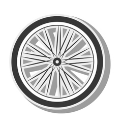 Bicycle wheel silhouette vector