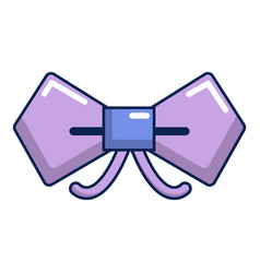Bow tie hipster icon cartoon style vector