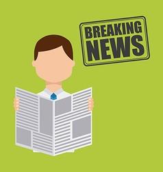 Breaking news vector