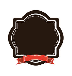 brown emblem with red ribbon icon vector image vector image