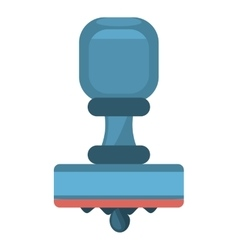 Cartoon blue rubber stamping supplies vector