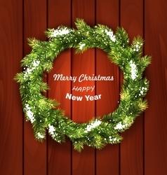 Christmas wreath with snow vector