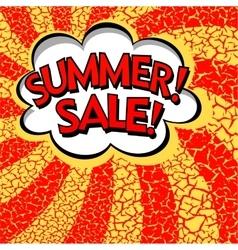 Color summer sale banner Pop art comic book vector image vector image