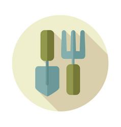Garden tool flat icon vector