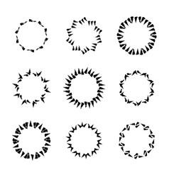Hand drawn circle frames vector