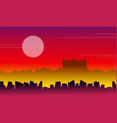 london city scenery vector image vector image