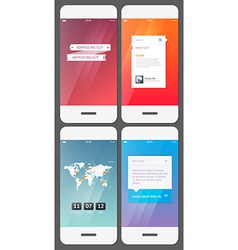 Mobile user interface template - stock vector