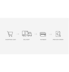 Outline checkout icons vector