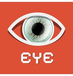 Paper Retro Eye vector image