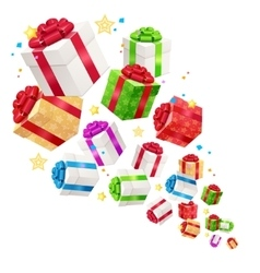 Present boxes background for cards vector