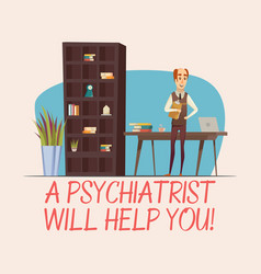 Psychologist flat vector