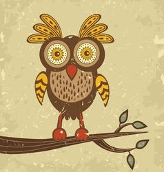 Retro owl vector image vector image