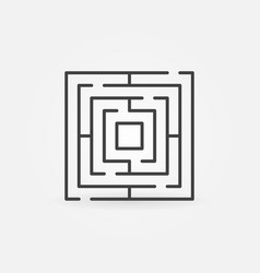 Thin line labyrinth icon vector