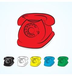 Vintage telephones vector