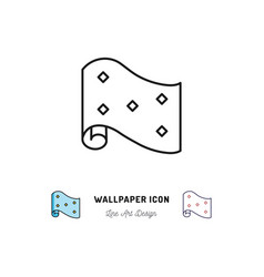 wallpaper roll icon interior design and home vector image vector image
