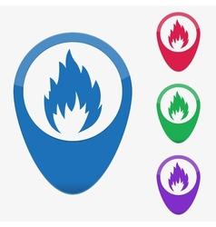 Web buttons pointer - fire vector