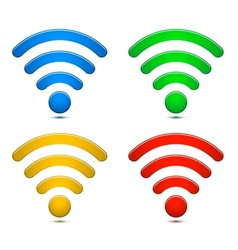 Wireless Network Symbols Set vector image vector image