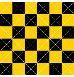 Yellow Black Chess Board Diamond Background vector image vector image
