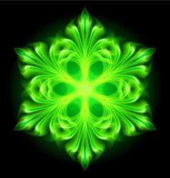 snowflake fair Green 01 vector image