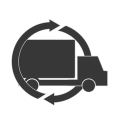 Truck transportation delivery design vector