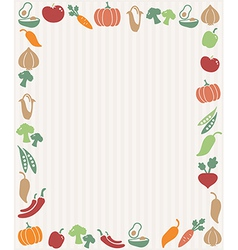 Vegetables frame vector image