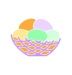 Nest simple icon vector