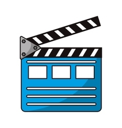 Isolated cinema clapboard design vector