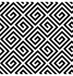 Seamless greek fret key pattern in black and white vector