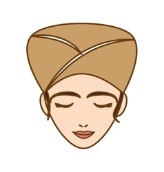 Woman with towel on head spa icon image vector