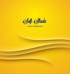 Abstract background with yellow shadow ornament vector