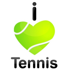 I love tennis vector image
